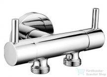 Sapho Bidé zuhany 2 szeleppel, bekötés a WC tartályhoz, 115cm gécső, tartóval, króm 1209-04-B