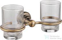Sapho DIAMOND dupla pohár tartó, bronz 1318-05