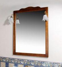 Sapho RETRO tükör világítás nélkül, 94x115 cm, bükk 1679