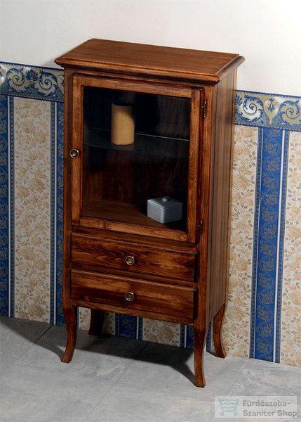 Sapho RETRO üveges fiókos szekrény, 60x120x38 cm, bükk 1699 ...