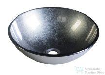 Sapho SKIN üveg mosdó, átmérő: 42cm, metál szürke 2501-16