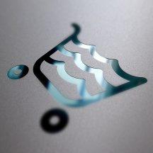 Bugnatese VINTAGE Álló szappantartó matt fekete kerámival króm színben 30801N