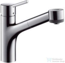 Hansgrohe Talis S egykaros konyhai csaptelep kihúzható zuhanyfejjel 32841