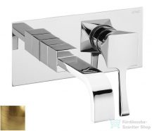 Sapho CHIC egykaros fali keverős mosdócsaptelep, hideg-meleg vizes, bronz 42034-06