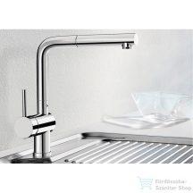 BLANCO LINUS-S kihúzható zuhanyfejes mosogató csaptelep króm  512402