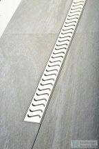 Sapho SCENE műanyag padlóösszefolyó, inox rosttal, L=520mm      72835