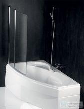Sapho POLYSAN Tarus 96 kádparaván csiszolt alumínium kerettel BS-96