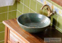 Sapho ATTILA kerámia mosdó 44x14 cm, zöld réz DK006