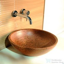 Sapho ATTILA kerámia mosdó, átmérő 46cm, terrakotta barna DK014