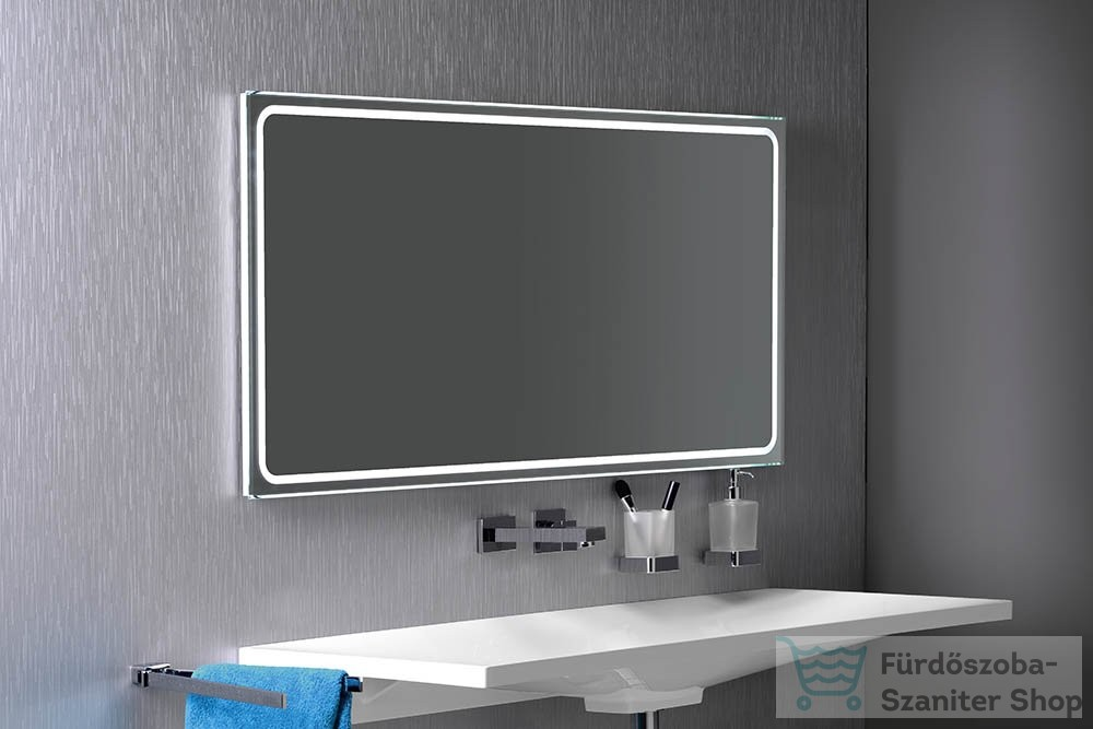 Sapho GEMINI II tükör LED világítással 120x60cm GM120 - Fürdőszoba akció. Szaniter termékek ...