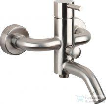 Sapho Minimal kádtöltő csaptelep zuhanyszett nélkül, inox MI010
